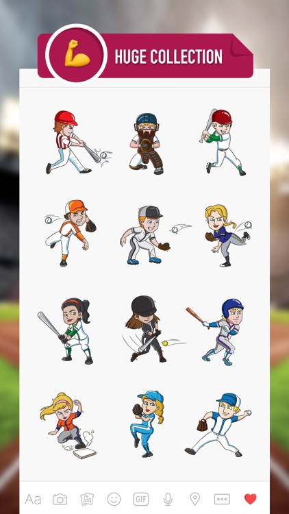 BaseballMoji - baseball emojis & stickers keyboard screenshot-1
