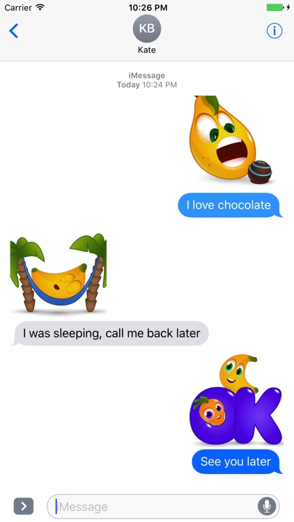 BANANAS: Animated Funny Cute Fruit Stickers screenshot-3