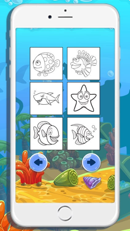 Sea animals coloring books for kids screenshot-3