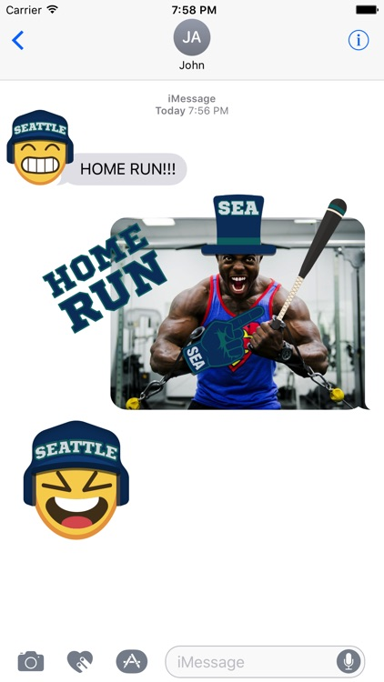 Seattle Baseball Stickers & Emojis