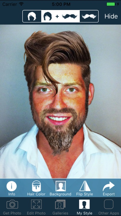 Hair and Beard Styles - Try On Hairstyles for Men screenshot-0