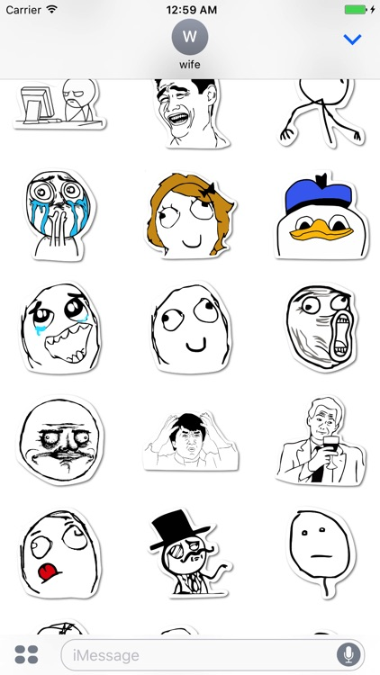 Ragefaces and Meme Stickers