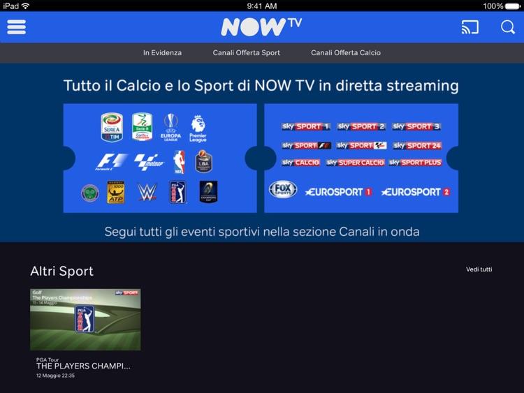 NOW TV Temporary per iPad screenshot-4