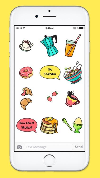 All Day Breakfast Menu Food Stickers screenshot-3