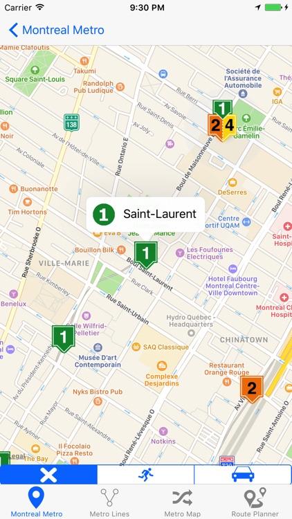 Montreal Metro & Subway screenshot-3