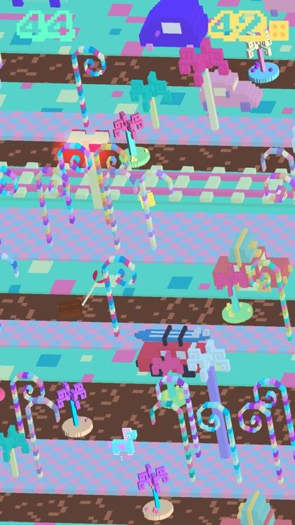 Candy Road - 3D Arcade Frogger screenshot-3