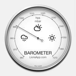 barometer atmosferische druk in de app store. Black Bedroom Furniture Sets. Home Design Ideas