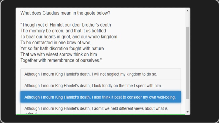 edMe Reading Hamlet by edMe Apps