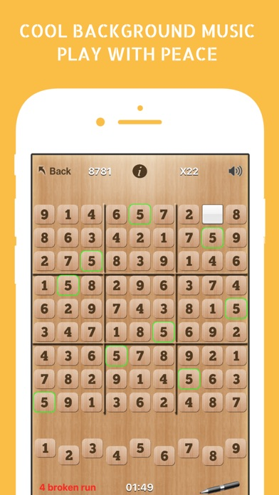 Sudoku Puzzle Classic Japanese Logic Grid AA Game Screenshot on iOS