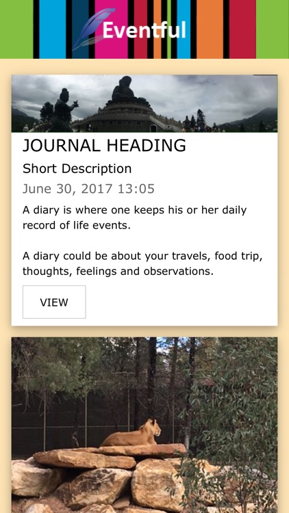 EVENTFUL Diary, Journal & Blog