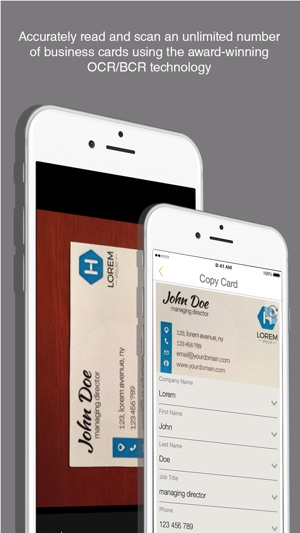 L card pro bizcard creator on the app store reheart Choice Image