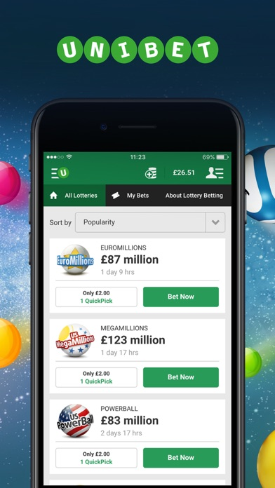 Unibet Lottery Betting