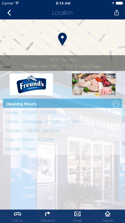 Freund's Famous Fish Market by NYC Mobile Group Inc