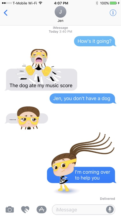 Piano Ally Superhero Stickers