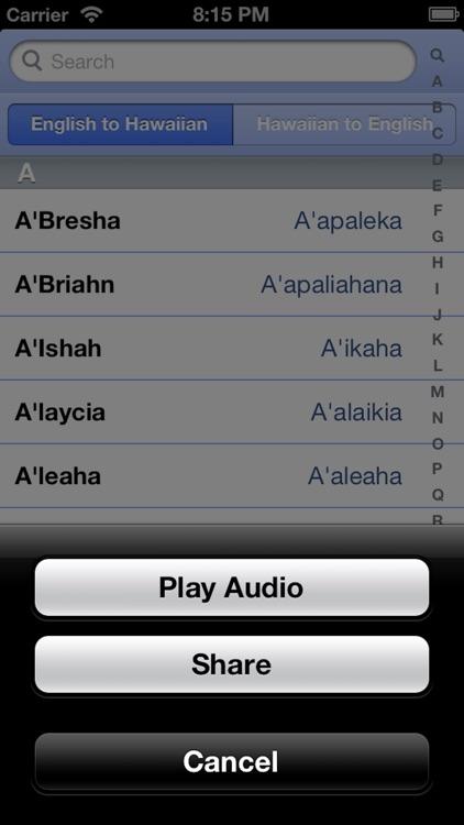 Hawaiian Names - Translate & Say Your Hawai'i Name