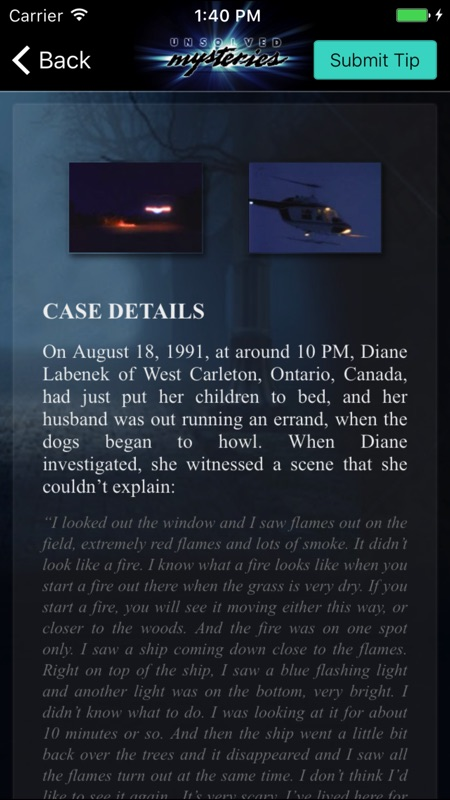 Unsolved Mysteries Mobile App - Online Game Hack and Cheat
