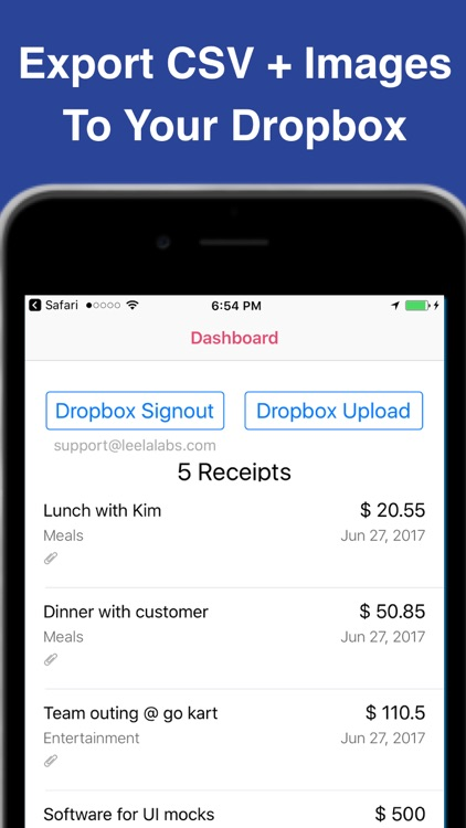 Receipt Scanner (for Dropbox)