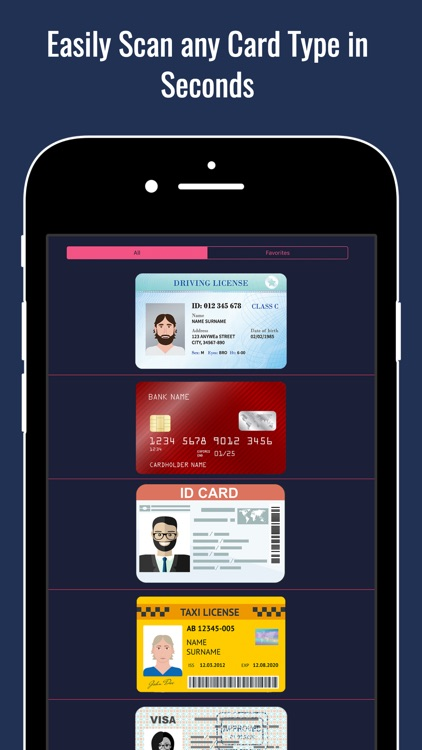 Any Card Wallet and Scanner Reader for Cards