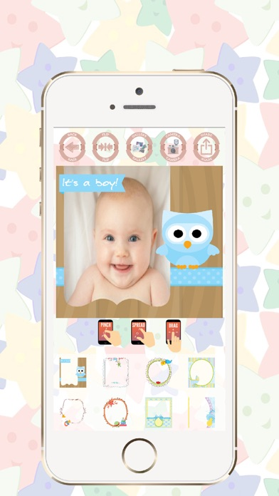 Baby photo frames edit and create beautiful cards screenshot one