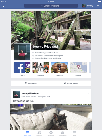 Facebook ipad картинки