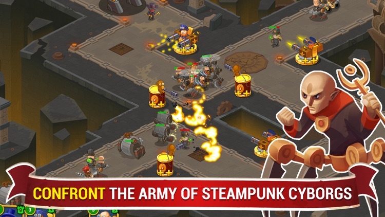 Steampunk 2 Tower Defense screenshot-0