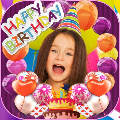 Happy Birthday Photo Frames Stickers Editor