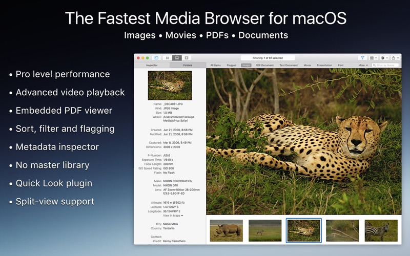 Fileloupe - Media Browser Screenshot