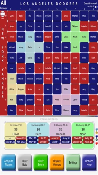 Baseball GamePool-Match&Series