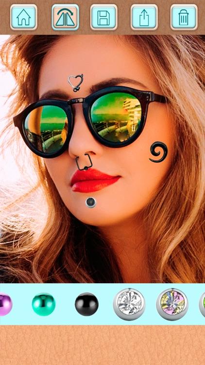 Piercing Photo Editor - Stickers and Beauty Salon screenshot-4