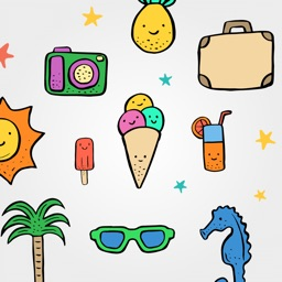 Summer Stickers Pack for iMessage