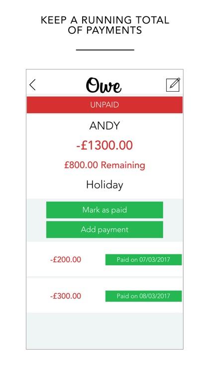 Owe - Personal Finance Tracker screenshot-4