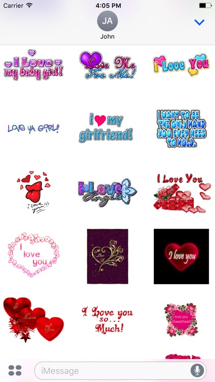 Animated Girlfriend & Boyfriend Love GIF Stickers