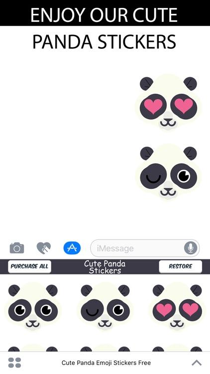 Cute Panda Emoji Stickers