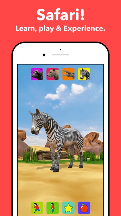 Zebra Safari Animals - Kids Game for 1-8 years old