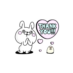 rabbit and bear 100% love stickers