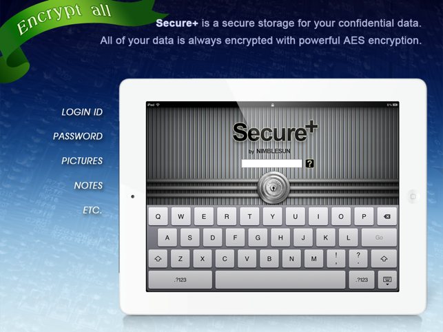 Secure+ password manager Screenshot