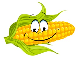 Funny stickers with corn will help you in communication
