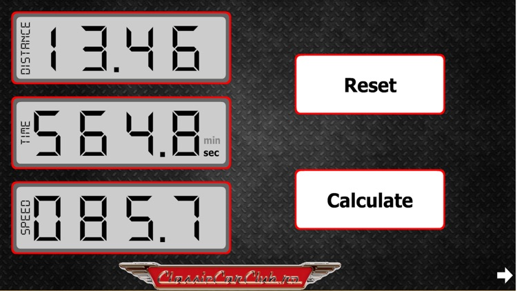 Rally Speed Table Calculator Pro screenshot-3
