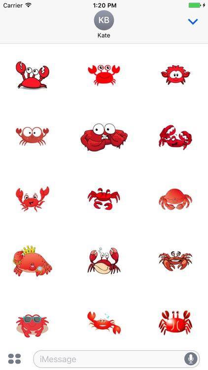 CrabMoji - Crab Stickers And Emoji Pack