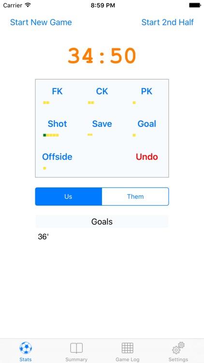 Soccer Stats Phone by Sam Tawfik