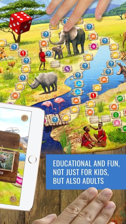 Safari Quest - board game for kids, family, school