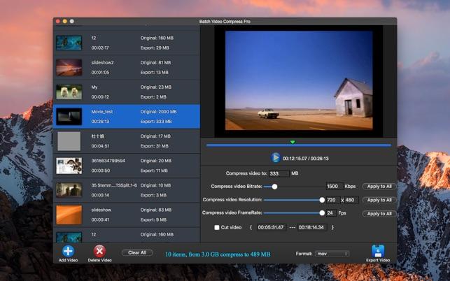 compress video file on a mac