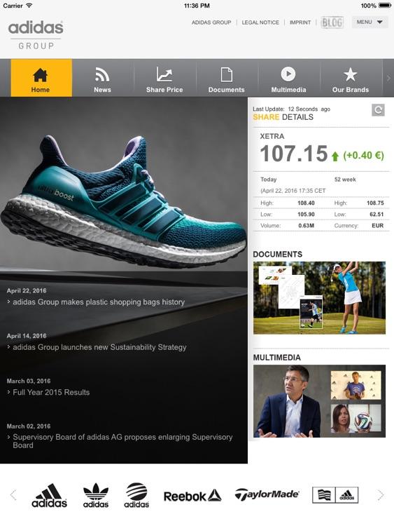 adidas Investor Relations iPad