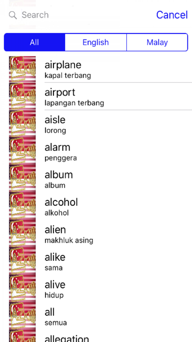 Malay Dictionary GoldEdition screenshot 3