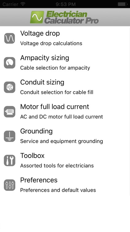 Electrician Calculator Pro