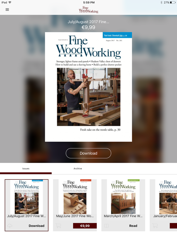 Fine Woodworking Magazine App Price Drops