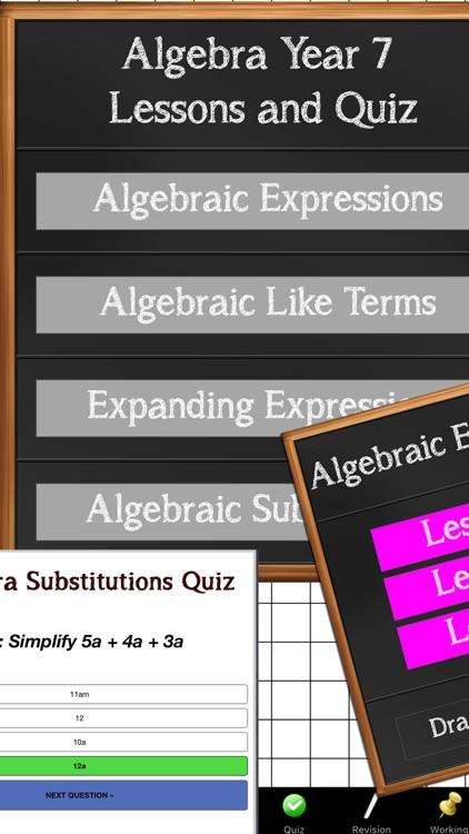 Algebra Year 7 Maths