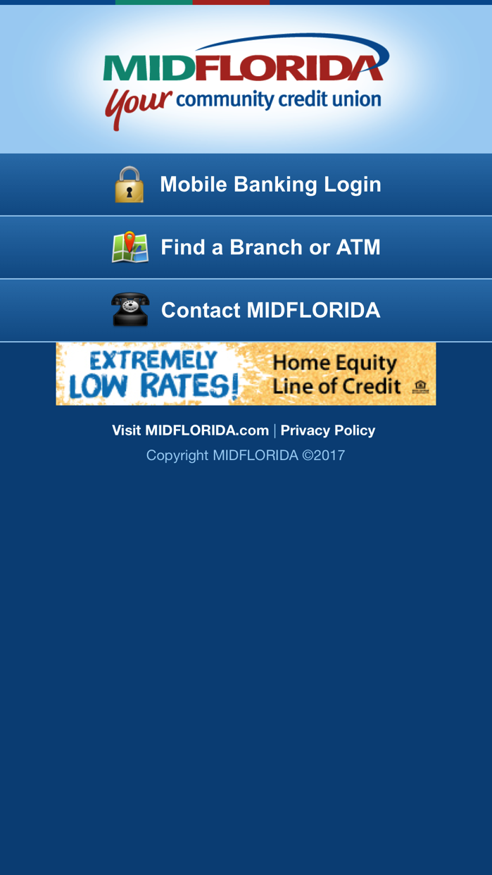 MIDFLORIDA Mobile Branch Screenshot