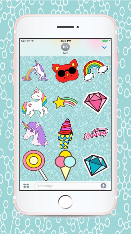 Unicorn Sticker Pack for Messaging