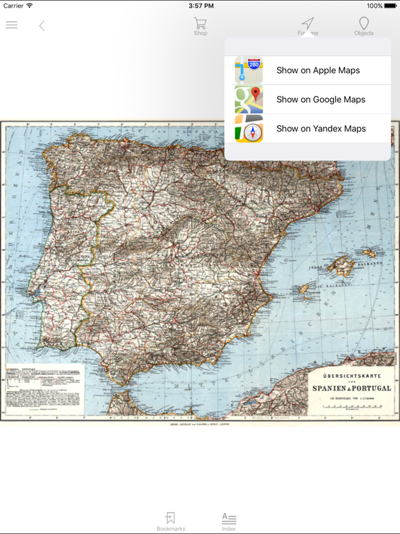 Spain Portugal 1929 Historical Map App Price Drops